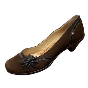Sofft Brown Suede/Patent Leather Heels Size 7.5M